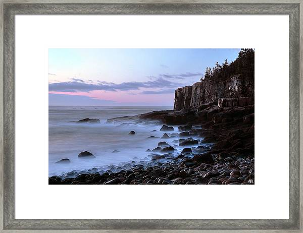 Otter Cliff Awash Framed Print