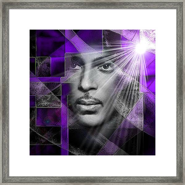 Our Beautiful Purple Prince Framed Print