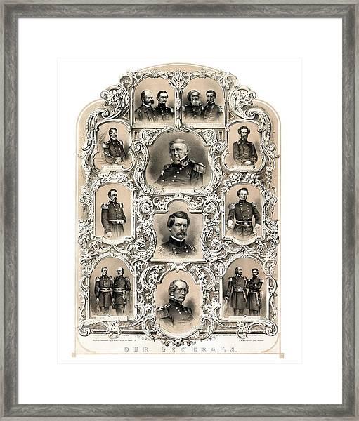 Our Generals -- Union Civil War Framed Print