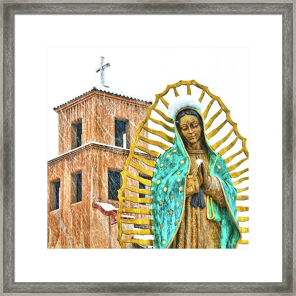 Framed Print featuring the photograph Our Lady Of Guadalupe by Britt Runyon