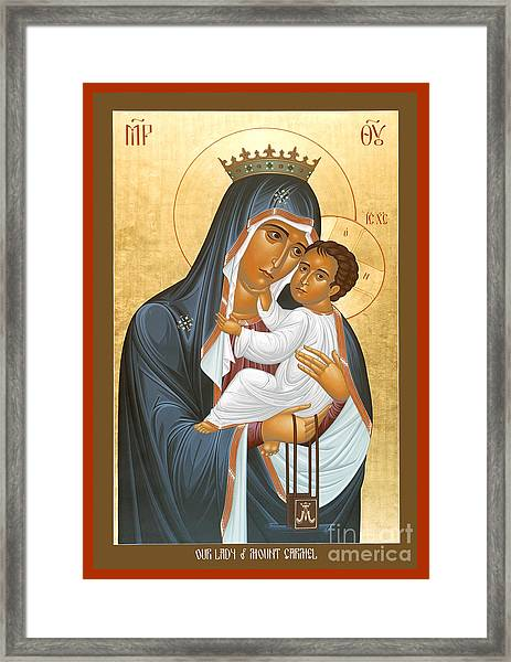 Our Lady Of Mount Carmel - Rlolc Framed Print