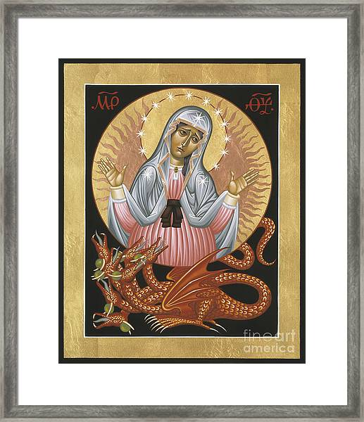 Our Lady Of The Apocalypse 011 Framed Print