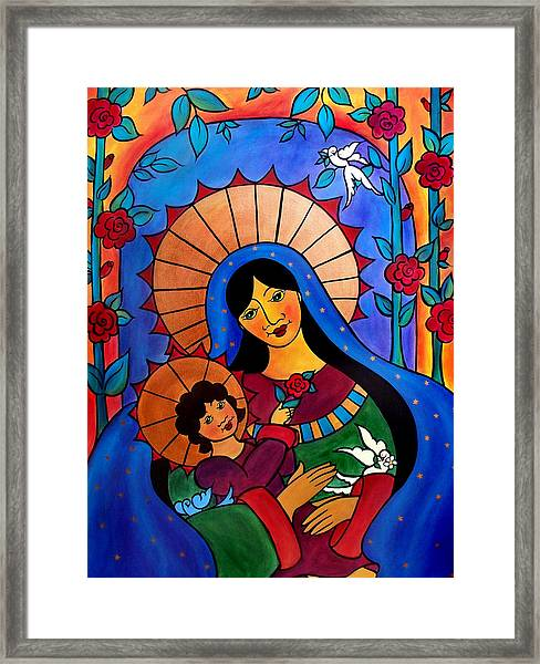 Our Lady Of The Garden Framed Print