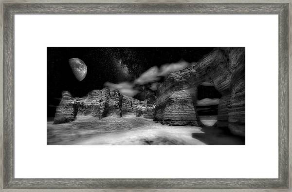 Our Place In The Stars Framed Print by Garett Gabriel
