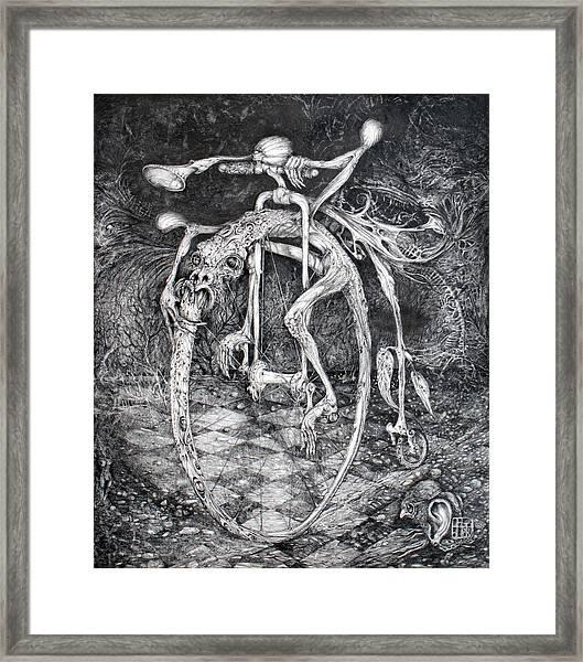 Ouroboros Perpetual Motion Machine Framed Print