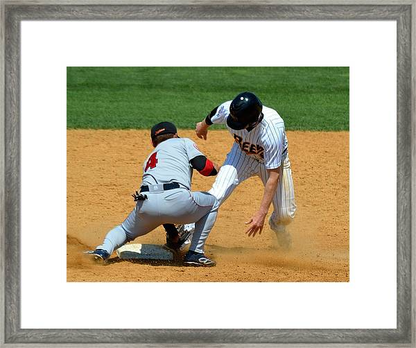 Out At Second Framed Print