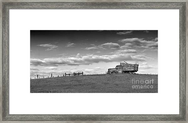 Out For Delivery In Floyd Virginia Framed Print