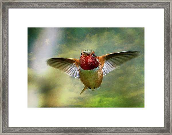 Out From The Clouds Framed Print