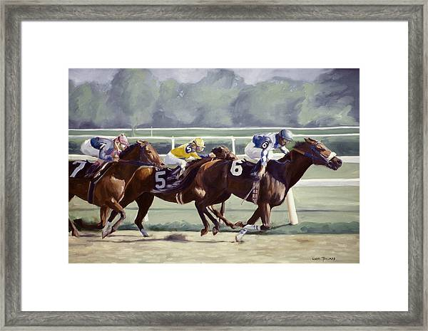 Out In Front Framed Print