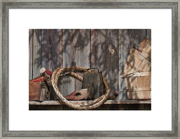 Out In The Barn Iv Framed Print