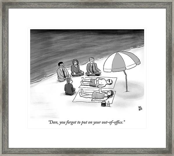 Out Of Office Framed Print