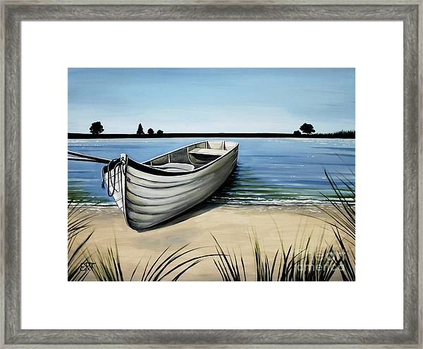 Out On The Water Framed Print