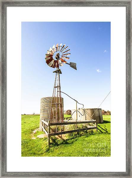 Outback Australian Farm Mill Framed Print