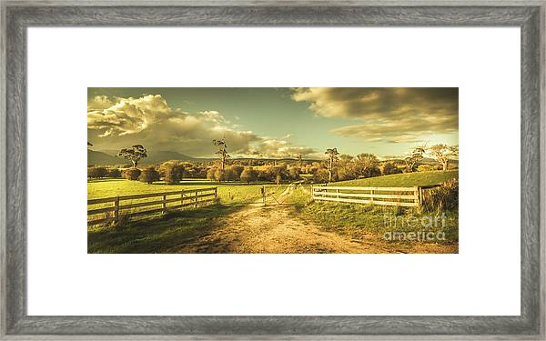 Outback Country Paddock Framed Print