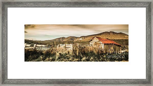Outback Obsolescence  Framed Print