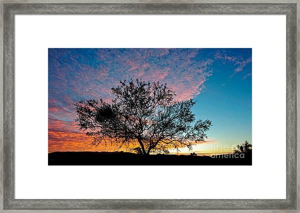 Outback Sunset Pano Framed Print