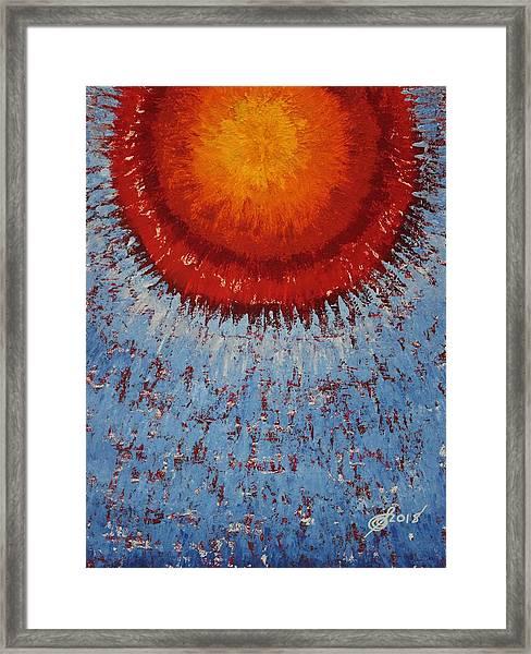 Outburst Original Painting Framed Print