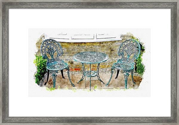 Outdoor Dining Framed Print