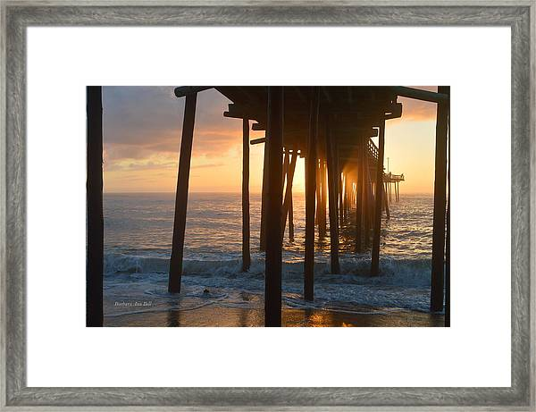 Outer Banks Pier 7/6/18 Framed Print