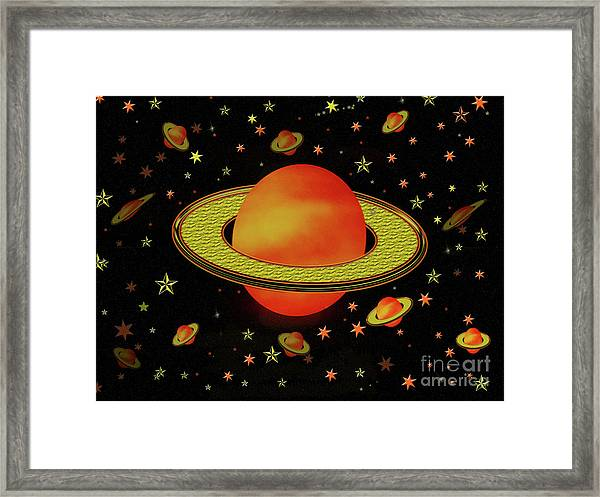 Outer Harvest Moons Framed Print