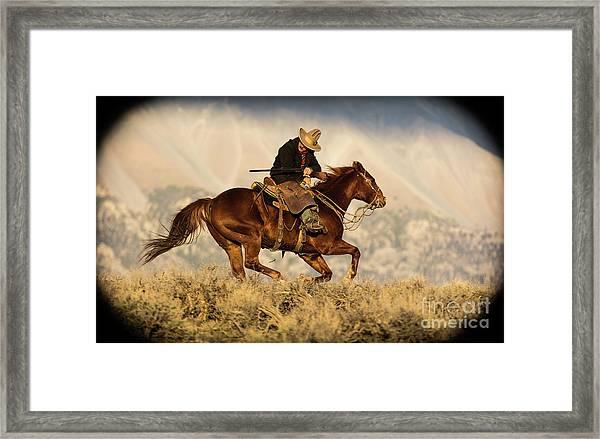 Outlaw Kelly Western Art By Kaylyn Franks Framed Print