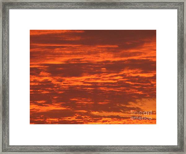 Outrageous Orange Sunrise Framed Print