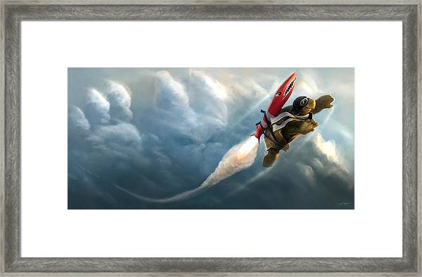 Outrunning The Clouds Framed Print