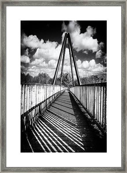 Framed Print featuring the photograph Over And Under by Nick Bywater
