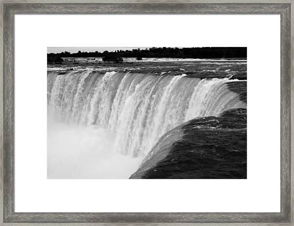 Over The Dam Framed Print