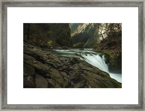 Over The Edge Framed Print