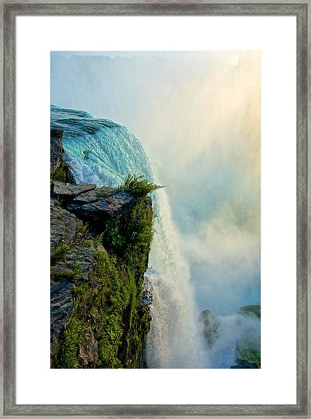 Over The Falls II Framed Print