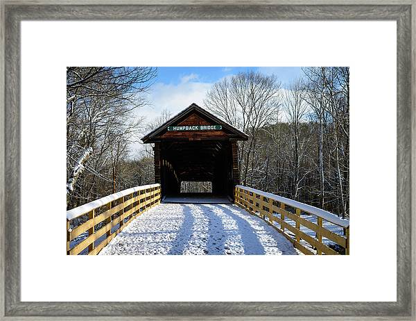Over The River And Through The Bridge Framed Print