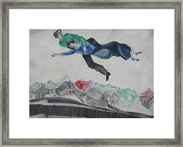 Over The Town Framed Print by Marc Chagall