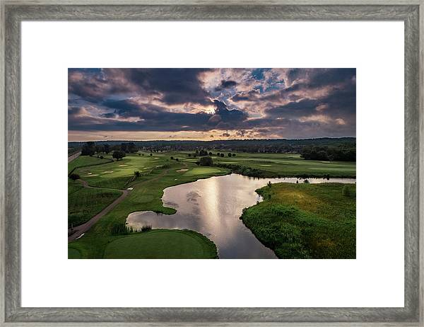 Over The Water Framed Print