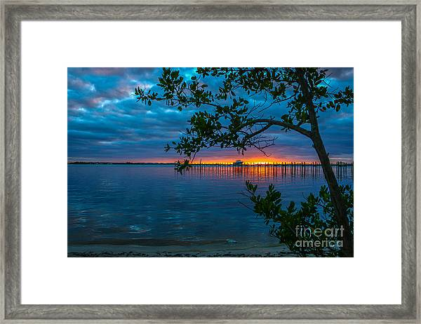 Framed Print featuring the photograph Overcast Sunrise by Tom Claud