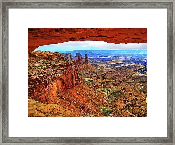 Overlooking Canyonlands National Park    Moab Utah Framed Print