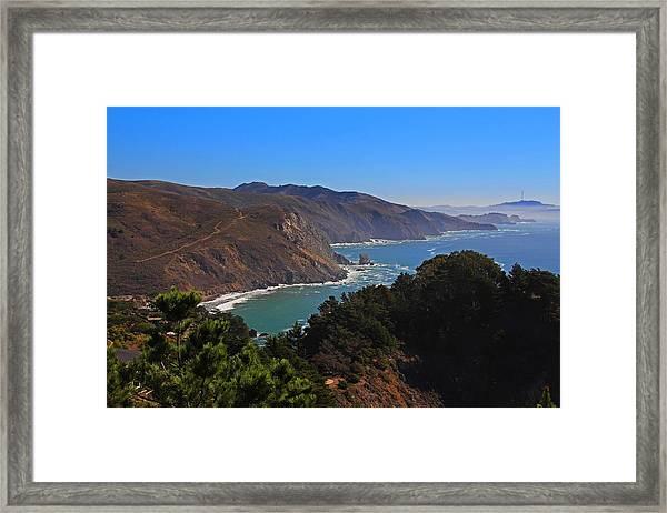 Overlooking Marin Headlands Framed Print