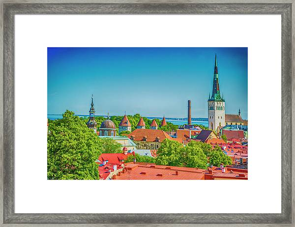 Overlooking Tallinn Framed Print