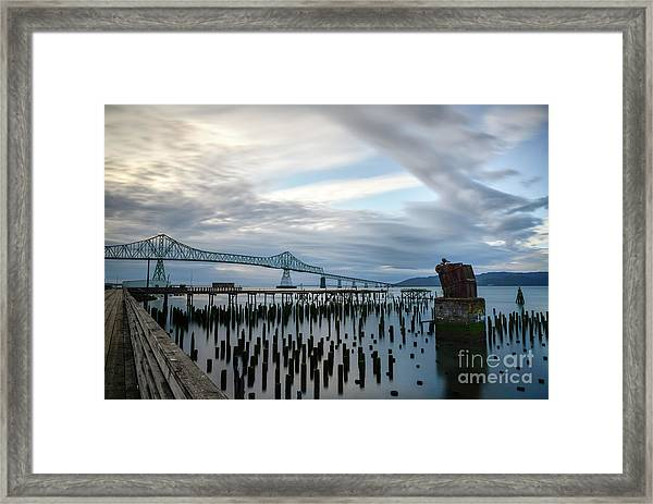 Overlooking The Bridge Framed Print