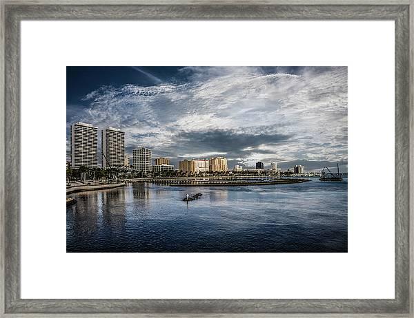 Overlooking West Palm Beach Framed Print