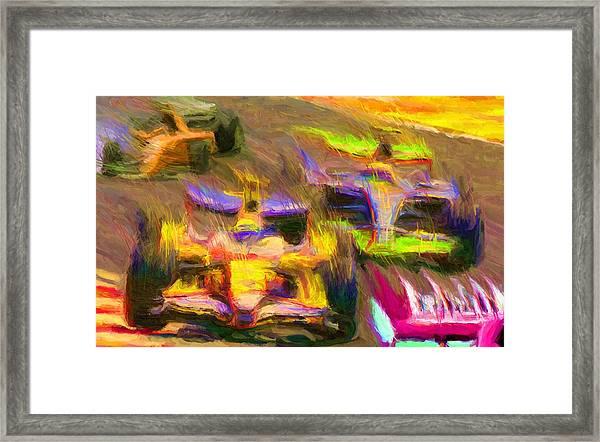 Overtaking Framed Print