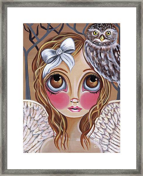 Owl Angel Framed Print