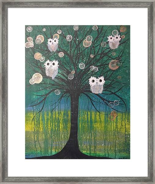Owl Tree Of Life #378 Framed Print