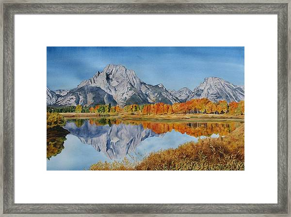 Oxbow Bend In The Grand Tetons Painting By Sharon Farber