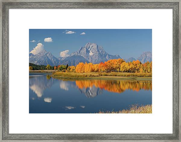 Oxbow Bend Reflection Framed Print
