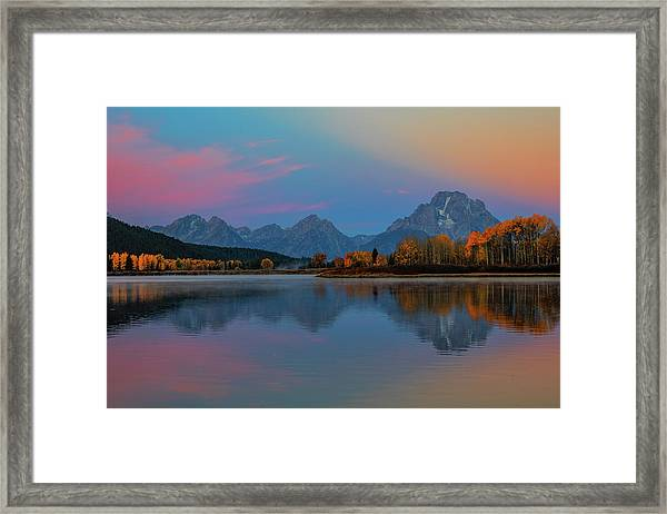 Oxbows Reflections Framed Print