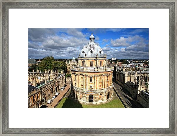 Oxford Library And Spires Framed Print