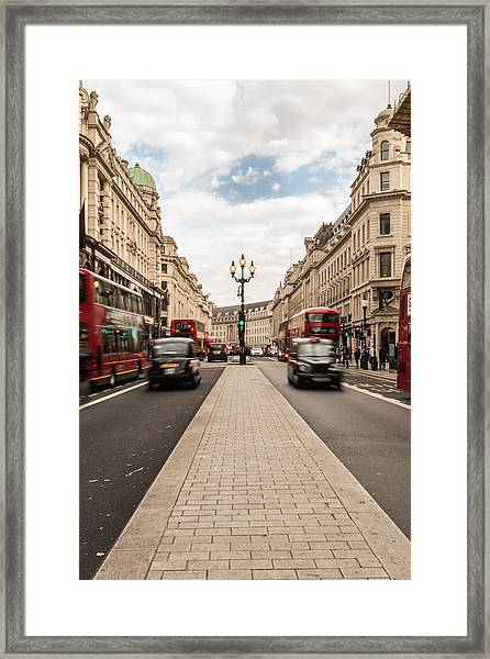 Oxford Street In London Framed Print
