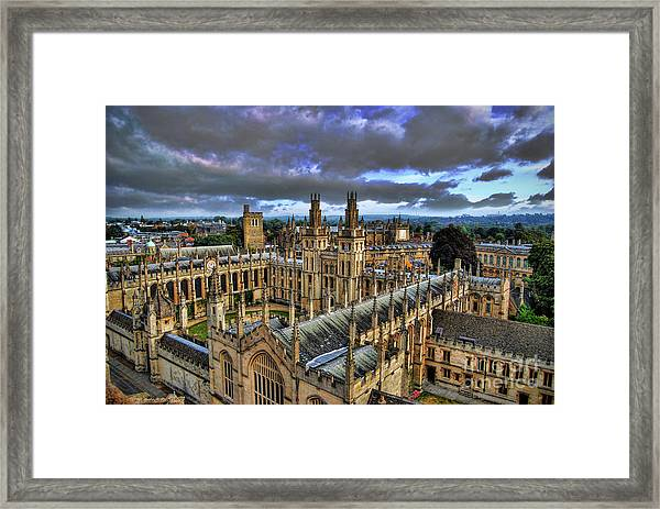 Oxford University - All Souls College Framed Print
