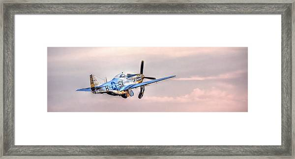 P-51 Mustang Taking Off Framed Print